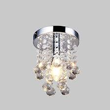 navimc mini modern crystal chandeliers rain drop pendant flush mount