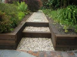 wood retaining wall ideas best sleepers in garden home