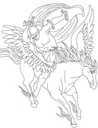 Free Printable Pegasus Coloring Pages For Kids Instant Download