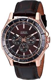cheap guess watch guess watch deals on line at get quotations · guess men s u0520g1 sporty classic rose gold tone brown multi function watch