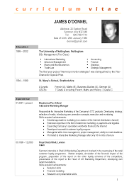 Gallery Of Sample Cv Resume