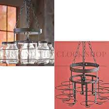 wrought iron mason jar chandelier canning jar light country rustic lighting save