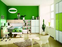 Kids Bedroom Color Schemes Cheerful Kids Room Interior Design With Green And White Color