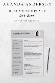 Resume Template For Word Pages Amanda Anderson Modern Resume
