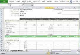 Expense Report Spreadsheets Free Expense Report Template For Excel