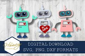Free svg love grows here valentine's porch sign this free svg cutting file contains the following formats: Robot Svg Png Dxf Cut File Valentine Love Machine Kids 189726 Cut Files Design Bundles