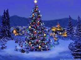 photo trick Christmas tree wallpaper ...