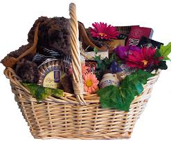 send sweet greetings this easter with a stylish basket full of award winning gourmet foods and gifts biscotti crispy pretzels creamy chocolates tea
