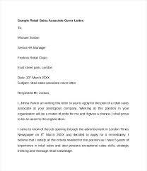 Sample Of Sales Cover Letter Sales Associate Cover Letter Principal
