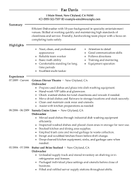 Best Dishwasher Resume Example Livecareer