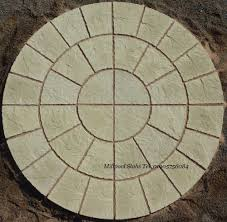 patio slab sets: paving ft york stone rotunda circle patio slabs free delivery note exceptions