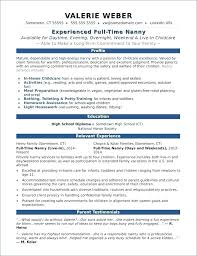 Teenage Resume Template Stunning Resume Sample For Nanny Position Unique Free Samples Ideas On