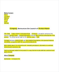 Product Launch Press Release Template Format – Gamerates.co