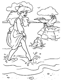 Little Mermaid Coloring Book Coloring Home