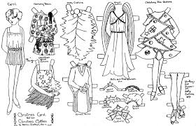 Christmas Paper Doll Coloring Pages Printable Coloring Page For Kids