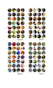 Matisse Colour Chart Color Pie Charts Gauguin Macke Matisse Monet Matisse