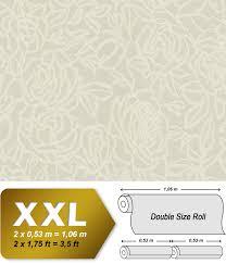 Bloemen Behang Edem 9040 20 Vliesbehang Hardvinyl Warmdruk In Reliëf