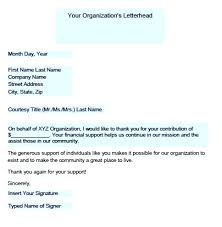 Thank You Letter For A Donation Template How To Write 1 Charity
