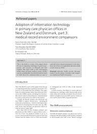 Electronic Medical Charts Make It Easier For Doctors To Pdf Adoption Of Information Technology In Primary Care