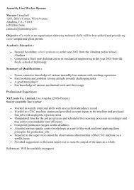 Assembler Resume Sample Applicable Depict Professional Resumes Entry