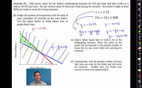 common core algebra i unit 5 lesson 8 modeling with systems of inequalities by emathinstruction