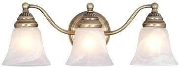 antique brass vanity light 3 bathroom lighting fixture loading zoom home depot fixtures brushed loa