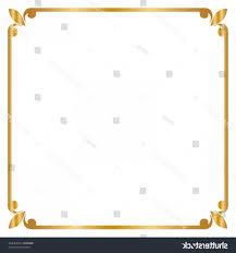 gold frame border png. Square Gold Frame Vector PNG: Border Golden Illustration Png