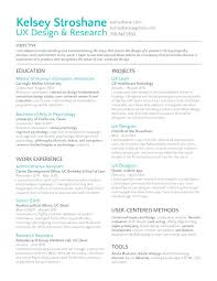 Resume Objective For Graphic Designer visual designer resume arielime 67