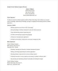 Resume Samples For Freshers Software Engineers Https Momogicars Com