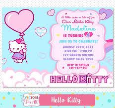 Hello Kitty Party Invitation Printable Personalized Digital Hello Kitty Invitation This