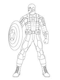 Coloring Pages Marvel Captain Marvel Colouring Coloring Pages