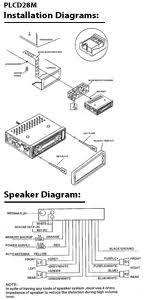 pyle plcd28m marine and waterproof headunits stereo installation and speaker diagrams