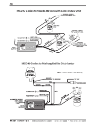 msd ignition wiring diagrams msd 6 series to mazda rotary single msd unit