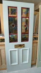 stained glass front door 2 over 2 panels