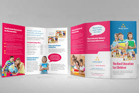 tri fold school brochure template education school trifold brochure template v2 by janysultana