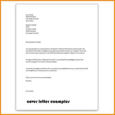 Wonderfull Simple Cover Letter Samples Letter Format Writing