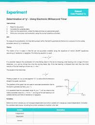 core practical 1 determination of g