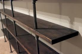 industrial black pipe shelf magnificent diy industrial shelves