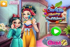 snow white mommy real makeover make up games play free atmegame