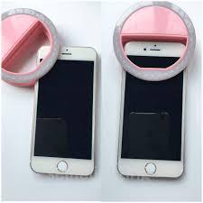 Flawless Lighting Pink Clip On Selfie Ring Light Summer16 Rings Pink