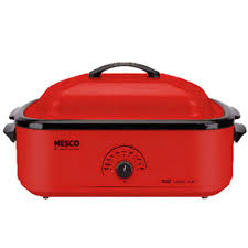 18 qt roaster porcelain cookwell red