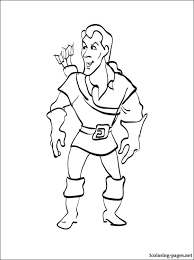 Small Picture Gaston coloring page from Beauty and the Beast Coloring pages