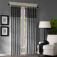 Striped Living Room Curtains Black White Gray Curtains Decorating Rodanluo