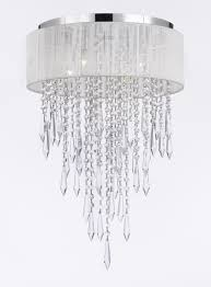 white shade crystal chandelier chandeliers lighting to enlarge