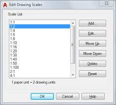edit drawing scales dialog box