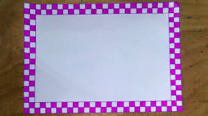 Simple Border Design For Project On Chart Paper Www