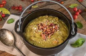 slow cooker pea and ham soup dinner