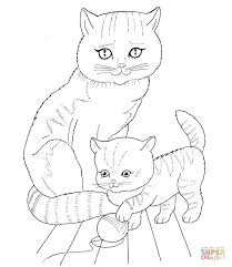 Small Picture Cat Mother and Kitten coloring page Free Printable Coloring Pages