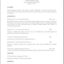 Resume Apprentice Electrician Resume Journeyman Job Description