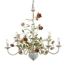 af lighting ramblin rose 9 light antique cream vintage chandelier